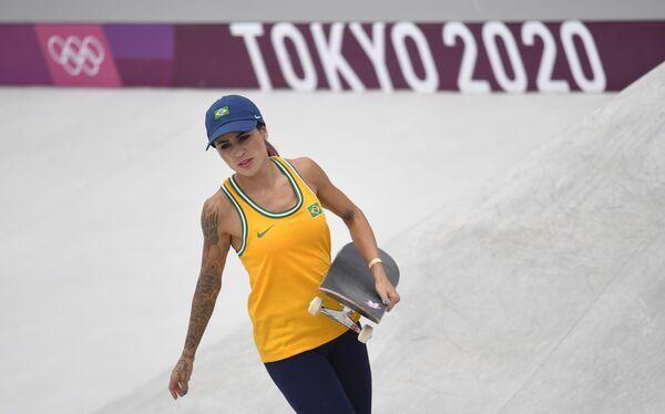 Brazilská skateboardistka Leticia Bufoni na Olympijských hrách v Tokiu - Sputnik Česká republika