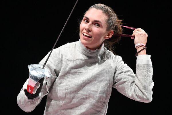 Ruská atletka, členka ruského národního týmu (sportovci ROC) Sofja Pozdnyakova na XXXII. letních olympijských hrách v Tokiu - Sputnik Česká republika