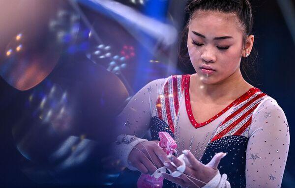 Americká gymnastka Sunisa Lee na Olympijských hrách v Tokiu - Sputnik Česká republika
