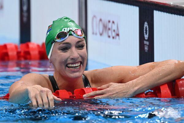 Tatjana Schoenmaker z Jihoafrické republiky během plaveckých závodů na Letních olympijských hrách v Tokiu - Sputnik Česká republika