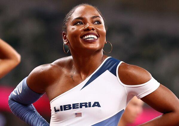 Ebony Morrison z Libérie na XXXII. letních olympijských hrách v Tokiu - Sputnik Česká republika