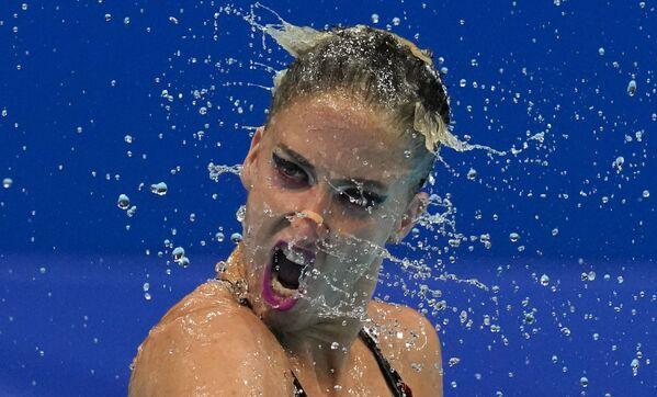 Rakouské sportovkyně v synchronizovaném plavání Anna Maria Alexandriová a Eirini Alexandriová na Olympijských hrách v Tokiu - Sputnik Česká republika