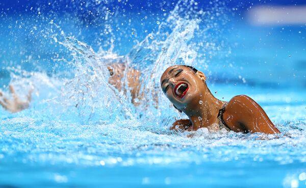 Egyptské reprezentantky v synchronizovaném plavání Laila Mohsenová a Hanna Hiekalová na Olympijských hrách v Tokiu - Sputnik Česká republika