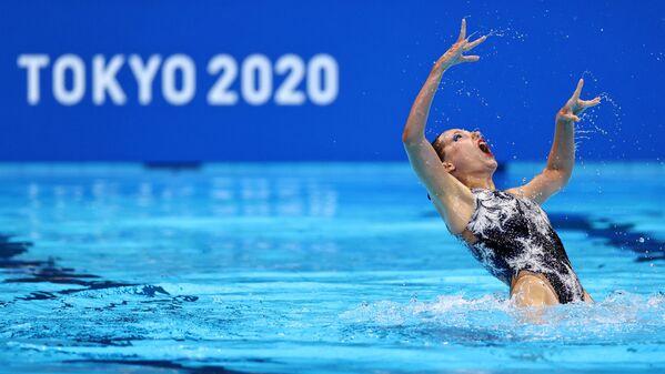 Kazašská reprezentantka v synchronizovaném plavání na Olympijských hrách v Tokiu - Sputnik Česká republika