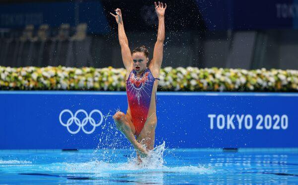 Britské reprezentantky v synchronizovaném plavání Kate Shortmanová a Isabelle Thorpeová na Olympijských hrách v Tokiu - Sputnik Česká republika