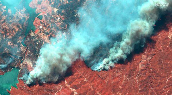 Снимок со спутника природных пожаров в Турции  - Sputnik Česká republika
