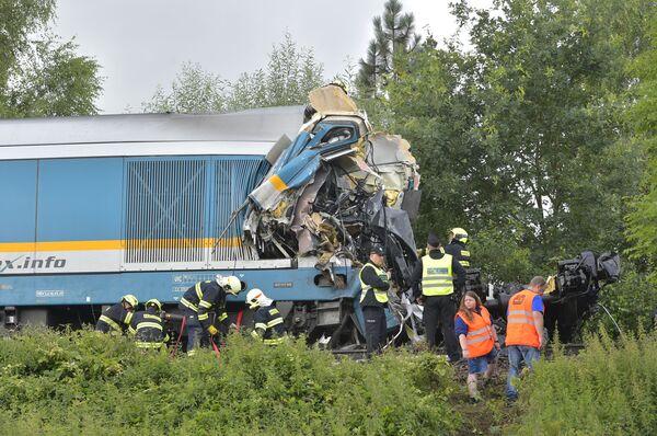 Srážka vlaků u obce Milavče na Domažlicku, Česká republika - Sputnik Česká republika
