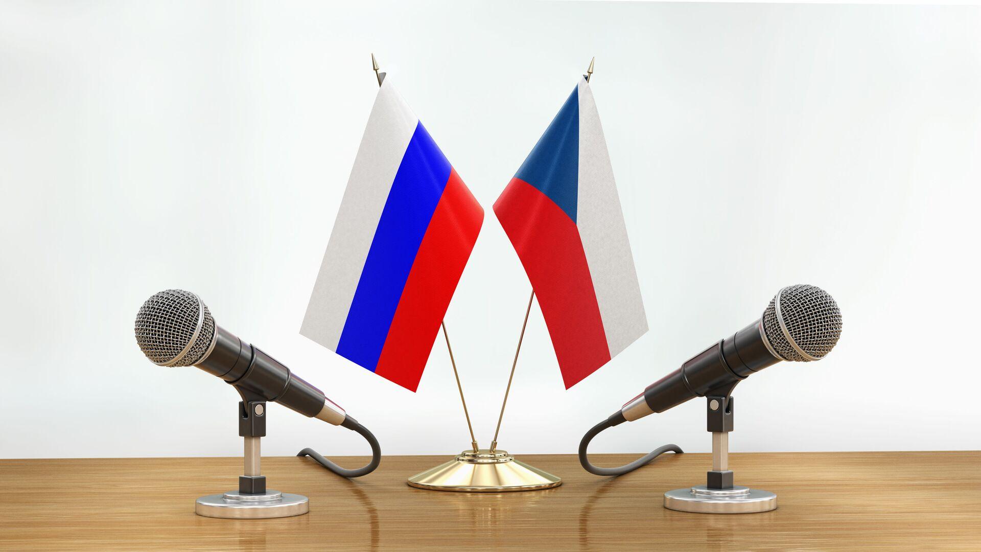 Vlajka Ruska a vlajka České republiky - Sputnik Česká republika, 1920, 11.09.2021