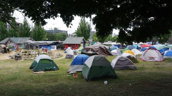 Палатки протестующих в Сиэтле - Sputnik Česká republika