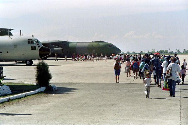 Spojené státy po erupci sopky Pinatubo v roce 1991 evakuovaly svou vojenskou jednotku a civilisty z filipínského ministerstva obrany. Celkem bylo evakuováno asi 20 tisíc lidí - Sputnik Česká republika