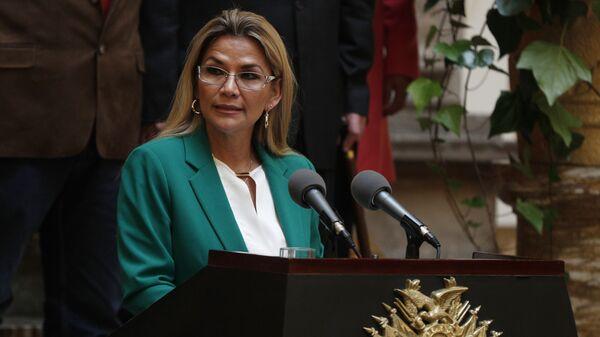 Исполняющая обязанности президента Боливии Жанин Аньес Чавес  - Sputnik Česká republika