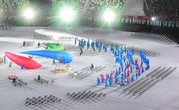 Účinkující na zahajovacím ceremoniálu XVI. letních paralympijských her - Sputnik Česká republika