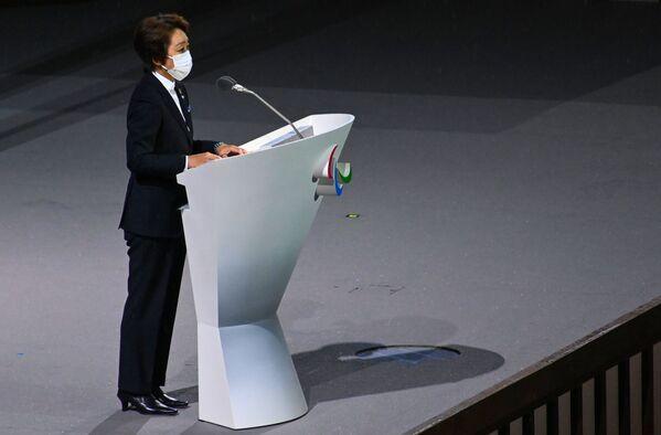 Seiko Hašimotová, předsedkyně organizačního výboru olympijských a paralympijských her, hovoří na zahajovacím ceremoniálu XVI. letních paralympijských her - Sputnik Česká republika