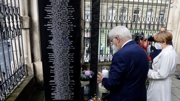 Президент Федеративной Республики Германии Франк-Вальтер Штайнмайер почтил память чехословацких десантников в Праге - Sputnik Česká republika