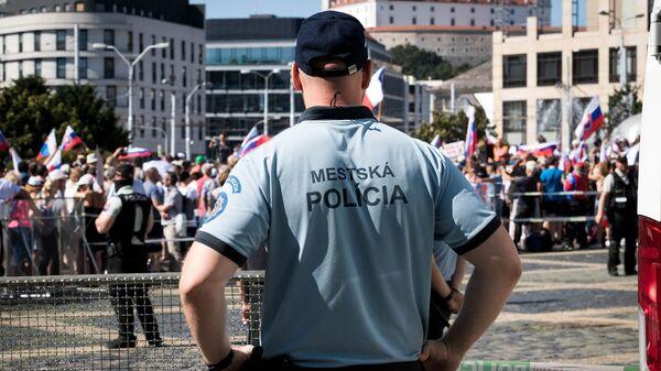 Протесты в Братиславе, Словакия - Sputnik Česká republika