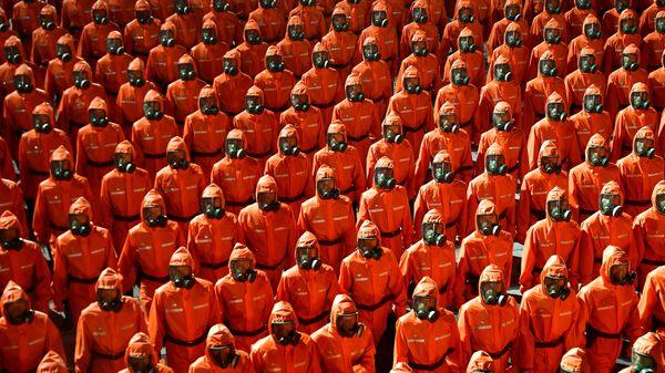 Военный парад в честь 73-й годовщины основания КНДР - Sputnik Česká republika