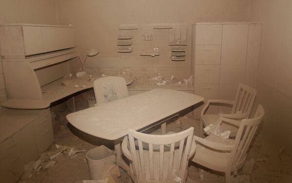 Popel uvnitř kanceláře, která se nachází přes ulici od místa tragédie ve Světovém obchodním centru v New Yorku - Sputnik Česká republika
