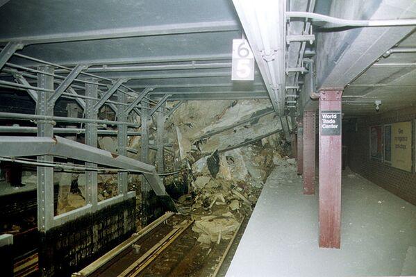 Zničený tunel metra v New Yorku - Sputnik Česká republika
