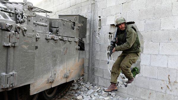 Израильский военный в секторе Газа - Sputnik Česká republika