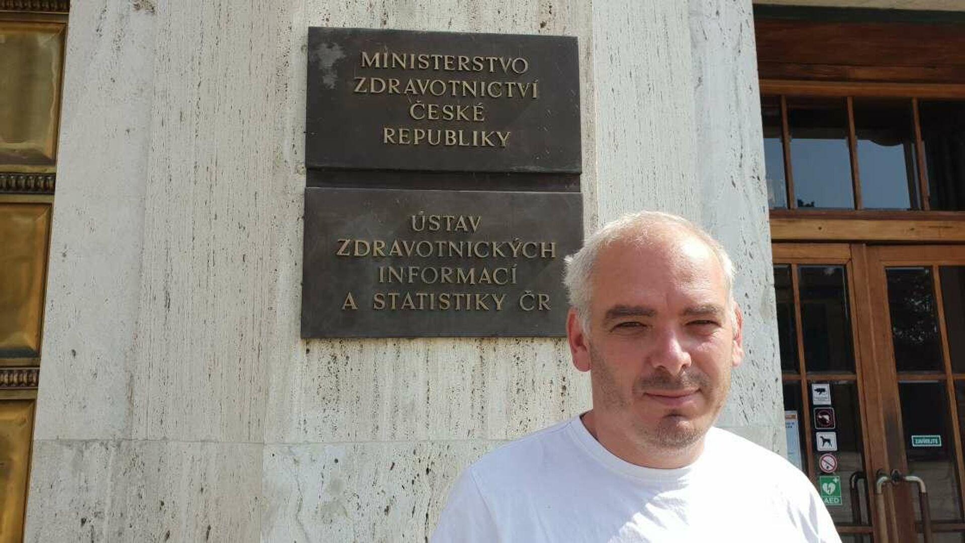 Tiskový mluvčí MZ Daniel Köppl - Sputnik Česká republika, 1920, 13.09.2021