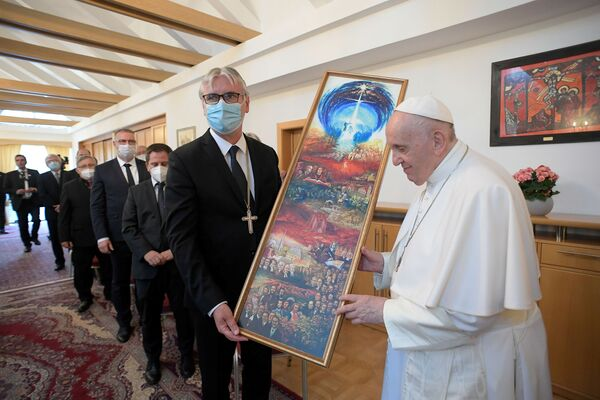 Setkání papeže Františka s biskupy v Bratislavě - Sputnik Česká republika