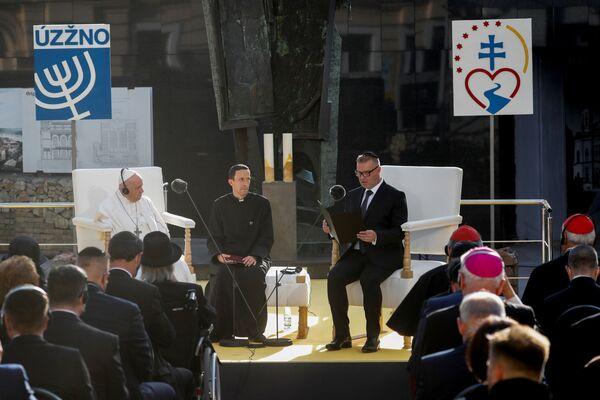 Setkání papeže Františka se členy židovské komunity v Bratislavě - Sputnik Česká republika