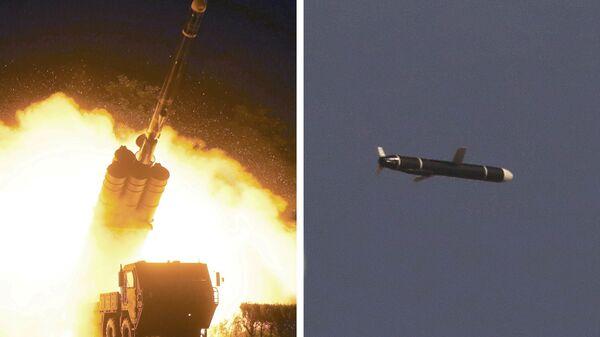 Испытания крылатых ракет большой дальности в Северной Корее - Sputnik Česká republika