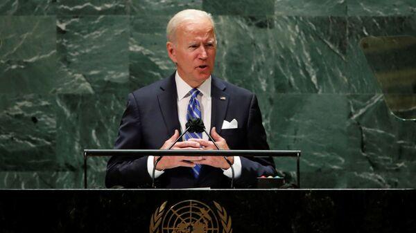 Americký prezident Joe Biden vystoupí na 76. zasedání Valného shromáždění OSN v New Yorku - Sputnik Česká republika