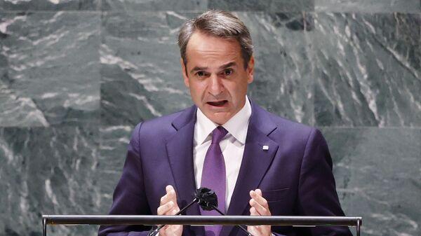 Řecký premiér Kyriakos Mitsotakis - Sputnik Česká republika