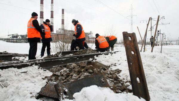 Vybuch na železnici - Sputnik Česká republika