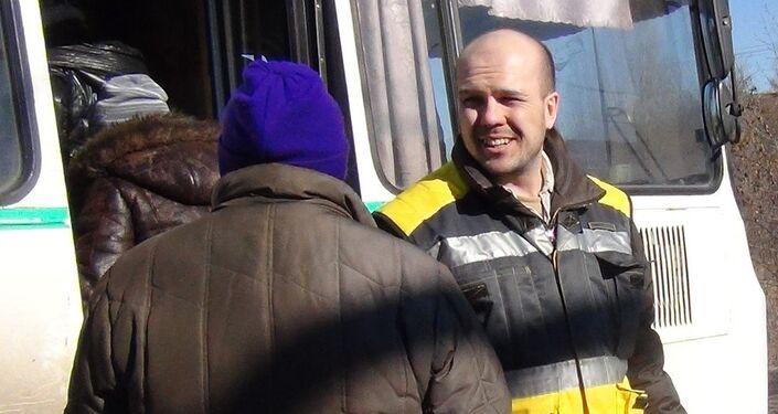 Dobrovolník Jevgenij Ganějev