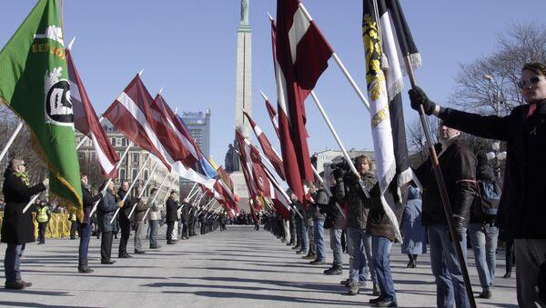 Pochod veteránů lotyšské legie SS v Rize - Sputnik Česká republika