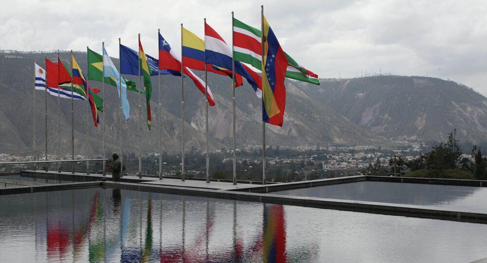 Vlajky členských států UNASUR
