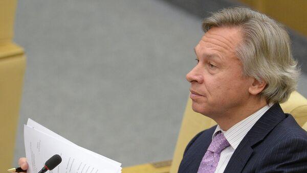 Předseda zahraničního výboru Státní dumy Alexej Puškov. - Sputnik Česká republika