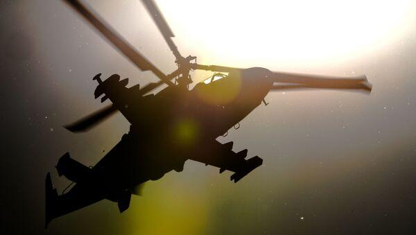 Вертолет Ка-52 Аллигатор во время показательных выступлений на Международном авиационно-космическом салоне МАКС 2015 в подмосковном Жуковском - Sputnik Česká republika