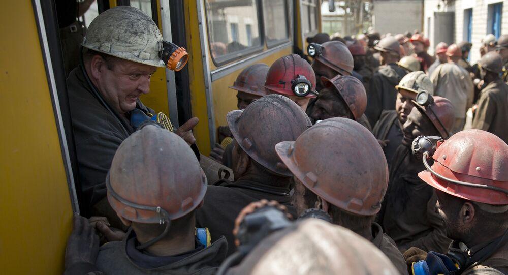 Horníci v Donbasu