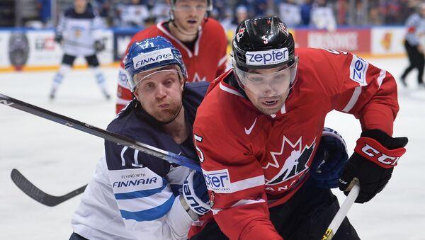 Finští a kanadští hokejisté ve finále na MS v hokeji - Sputnik Česká republika