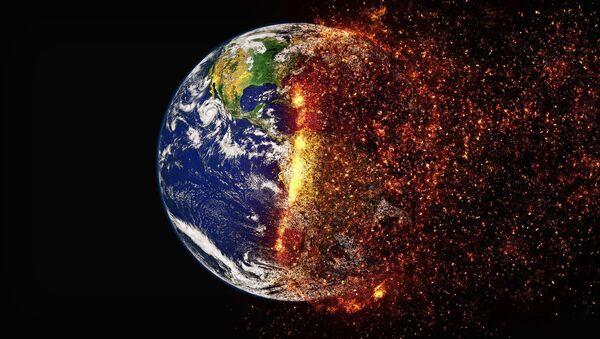 Umělecká představa změny klimatu země - Sputnik Česká republika