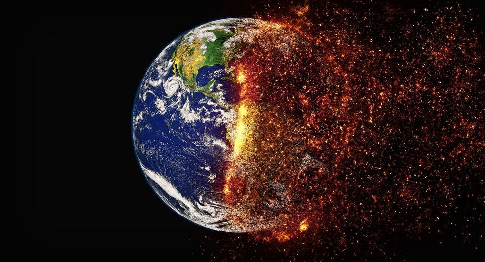 Umělecká představa změny klimatu země