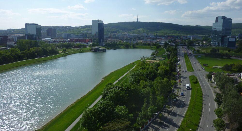 Jezero Kuchajda v Bratislavě na Slovensku