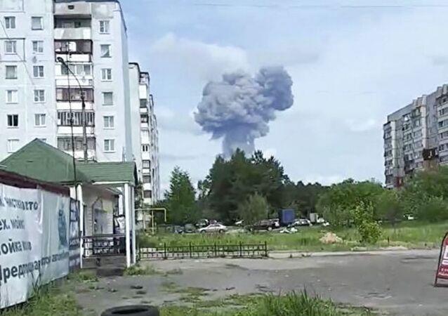 Exploze v cechu na výrobu výbušnin závodu Kristall v Dzeržinsku v Nižněnovgorodské oblasti Ruska