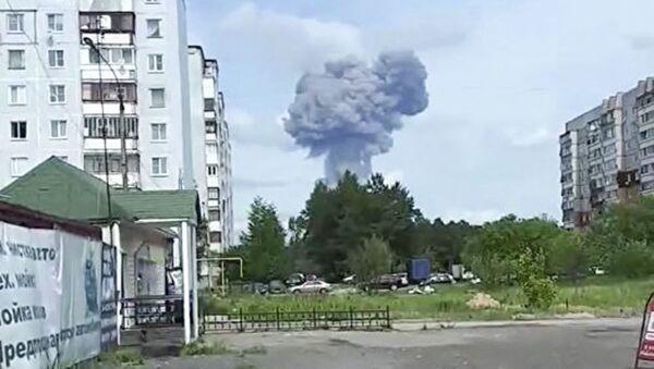 Exploze v cechu na výrobu výbušnin závodu Kristall v Dzeržinsku v Nižněnovgorodské oblasti Ruska - Sputnik Česká republika