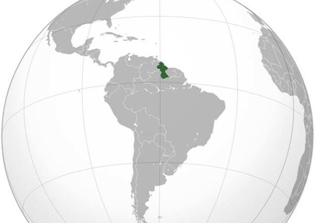 Guyana na mapě světa