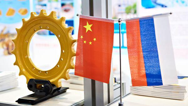 Vlajky Číny a Ruska - Sputnik Česká republika