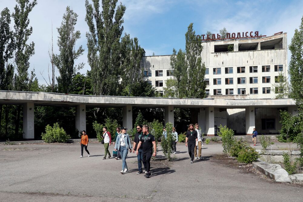 Opuštěná budova ve městě Pripjať.