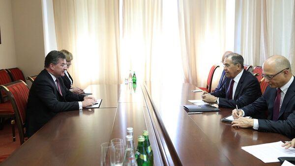 Miroslav Lajčák a Sergej Lavrov - Sputnik Česká republika