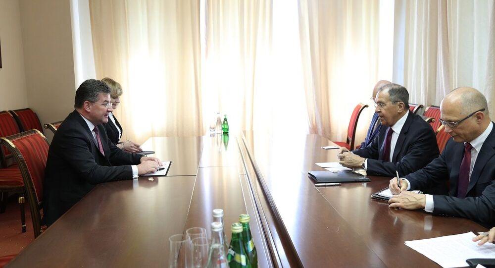 Miroslav Lajčák a Sergej Lavrov