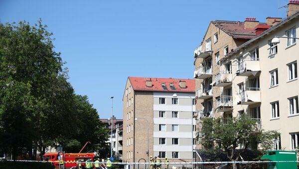 Místo výbuchu ve švédském Linköpingu - Sputnik Česká republika