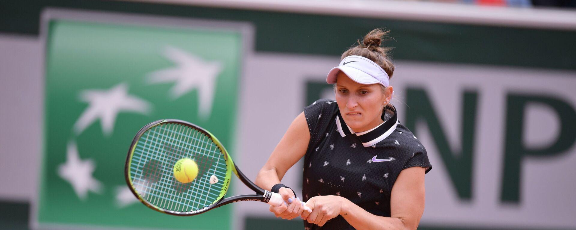 Markéta Vondroušová v semifinále Roland Garros proti Johanně Kontaové - Sputnik Česká republika, 1920, 31.07.2021