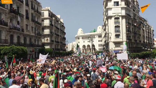 """""""Odejděte všichni"""". 10 tisíc lidí uspořádalo masový protest v Alžírsku - Sputnik Česká republika"""